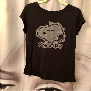 PEANUTS Bedazzled SNOOPY t-shirt Tee Sz XL